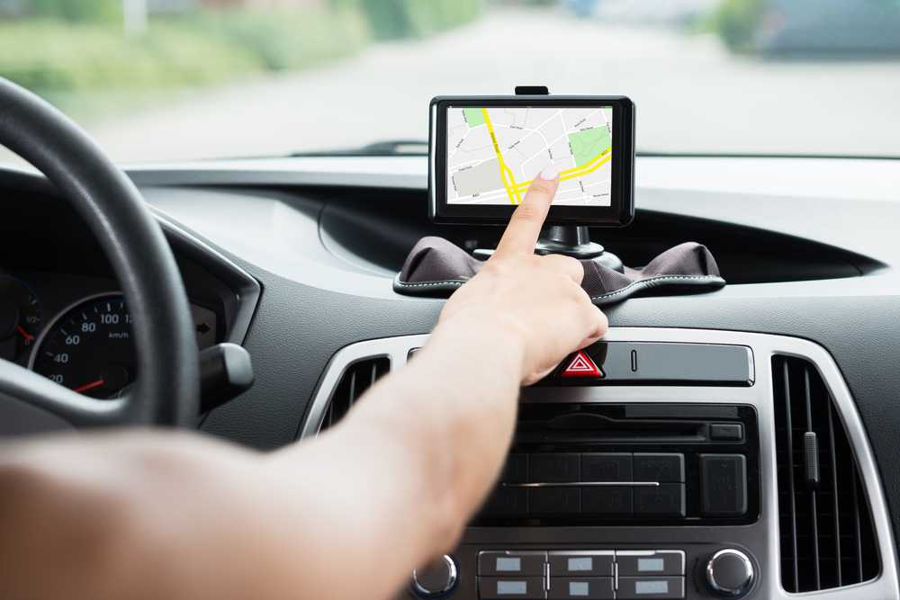 GPS navigatie in auto