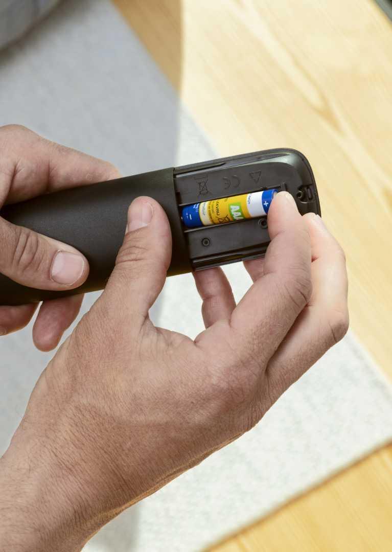 Batterijen in afstandsbediening