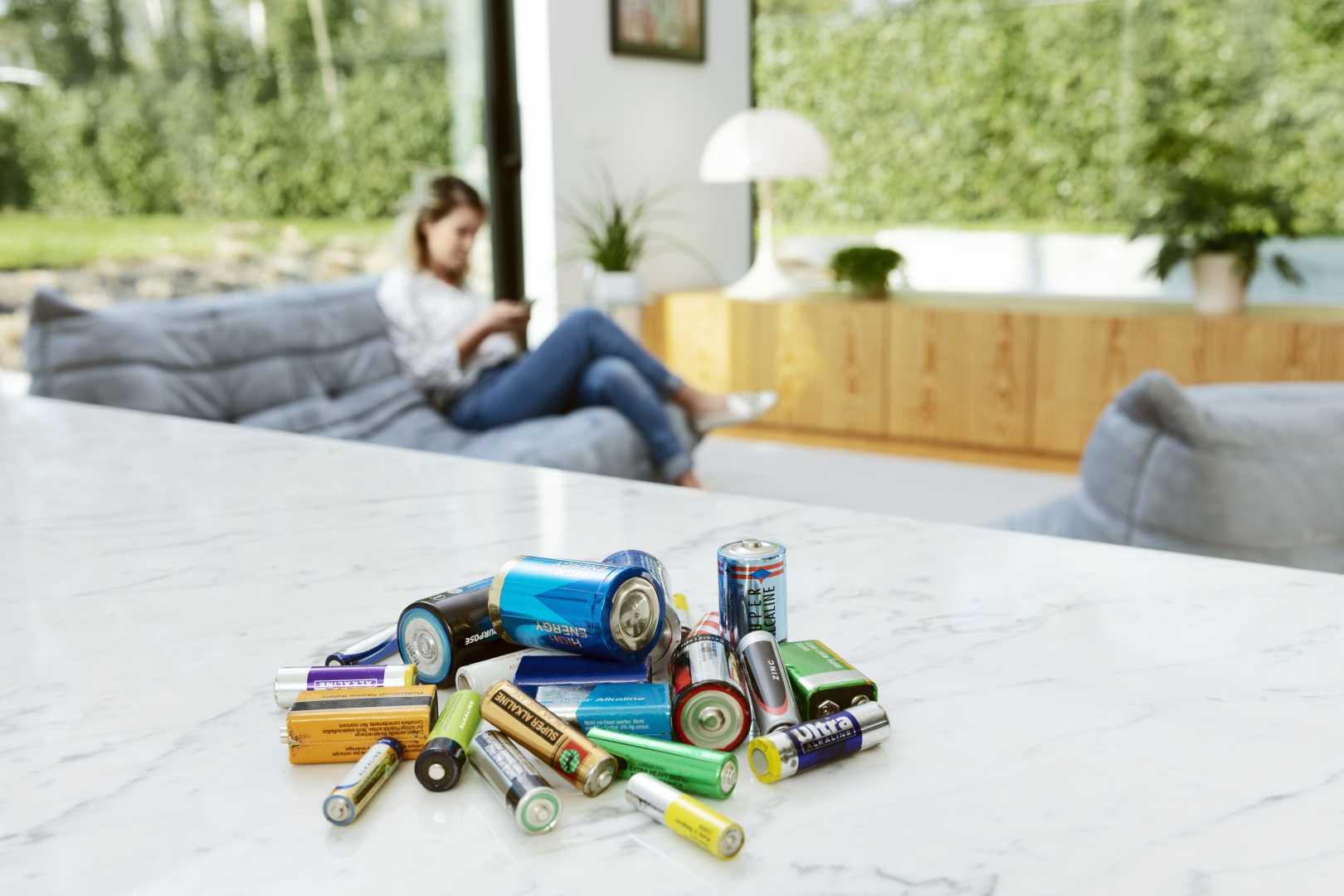 Losse batterijen in huis