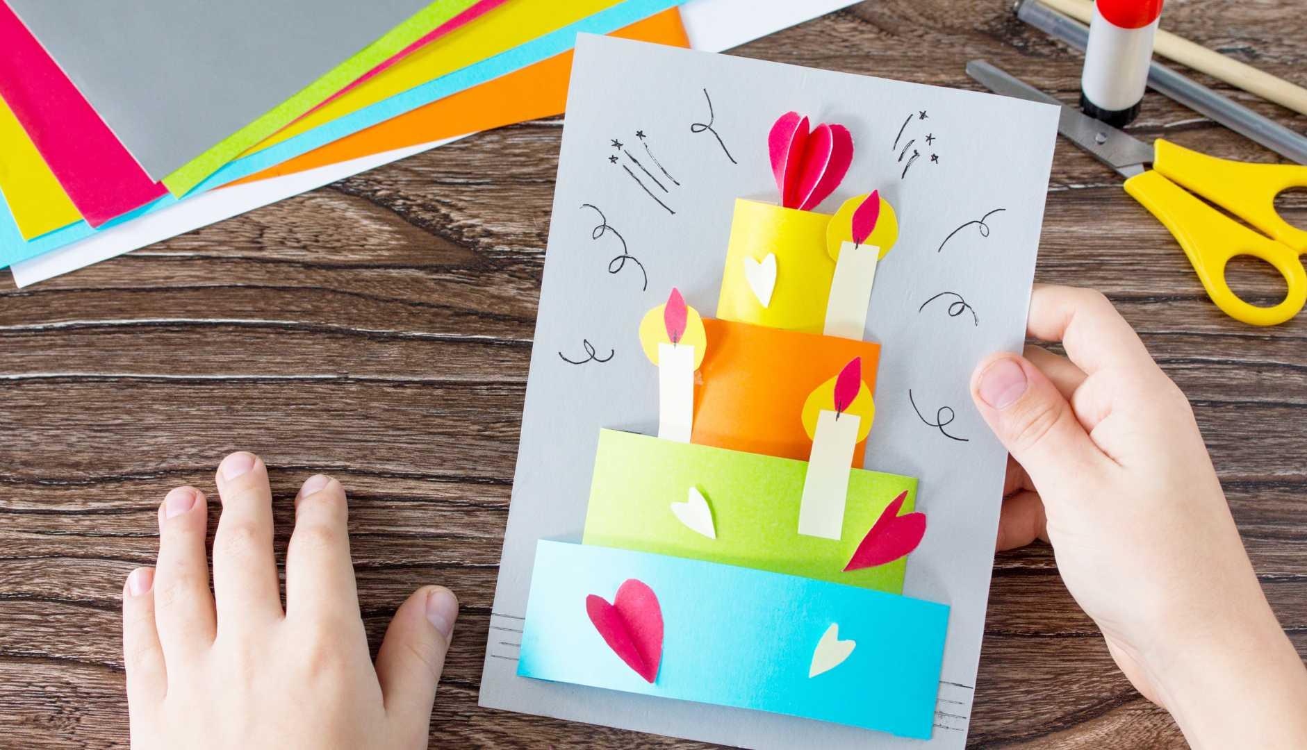 Zingende verjaardagskaart