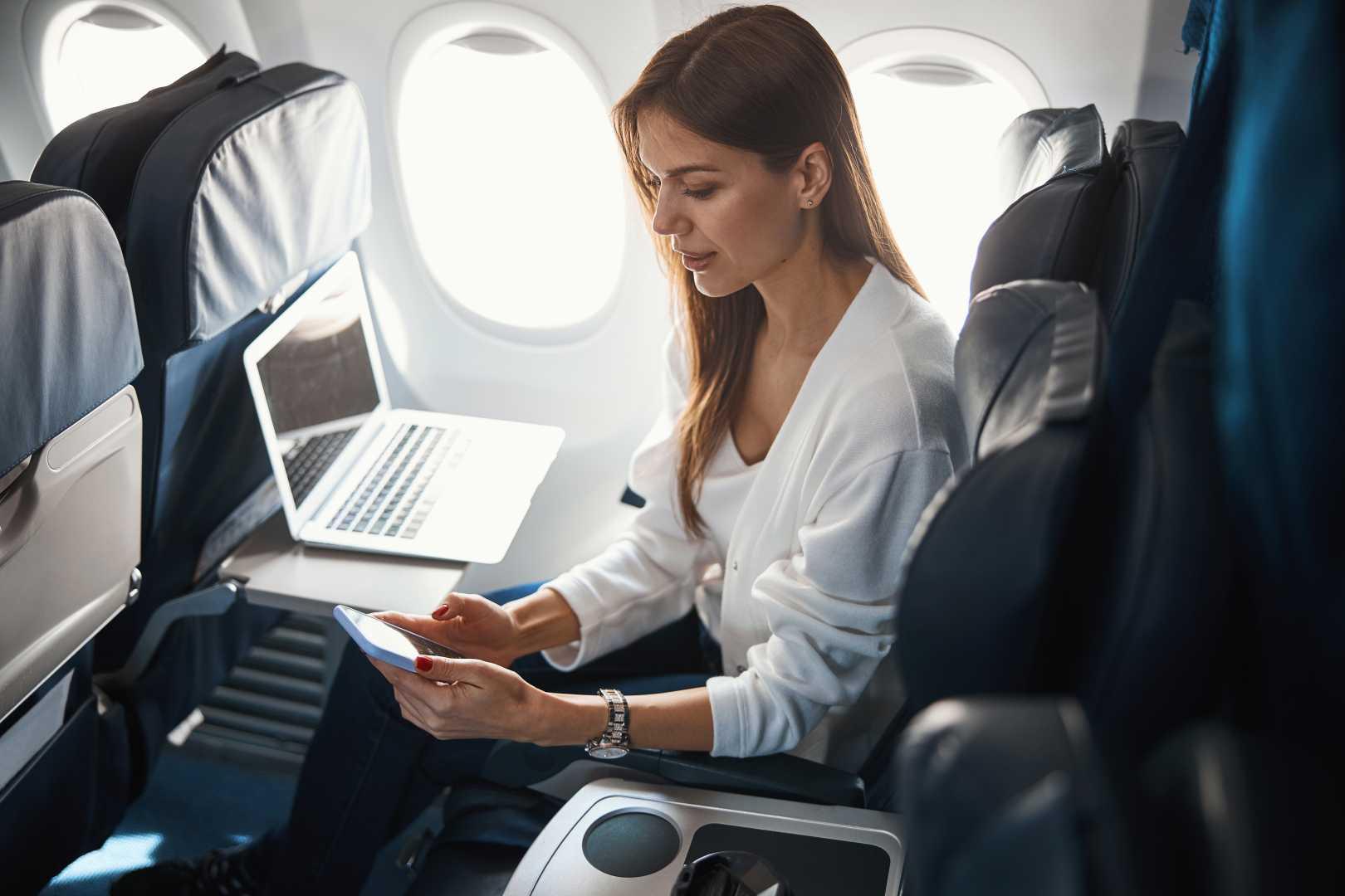 GSm op vliegtuig