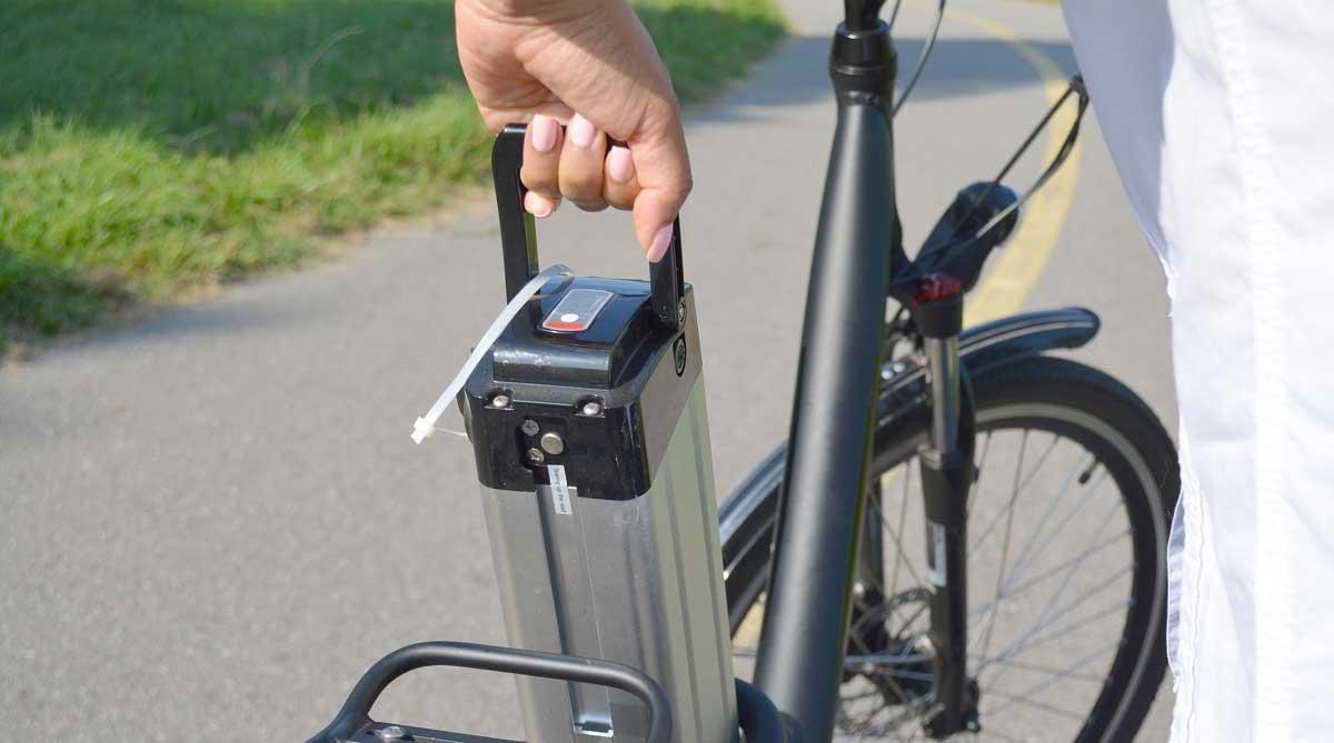 Oude batterij fiets