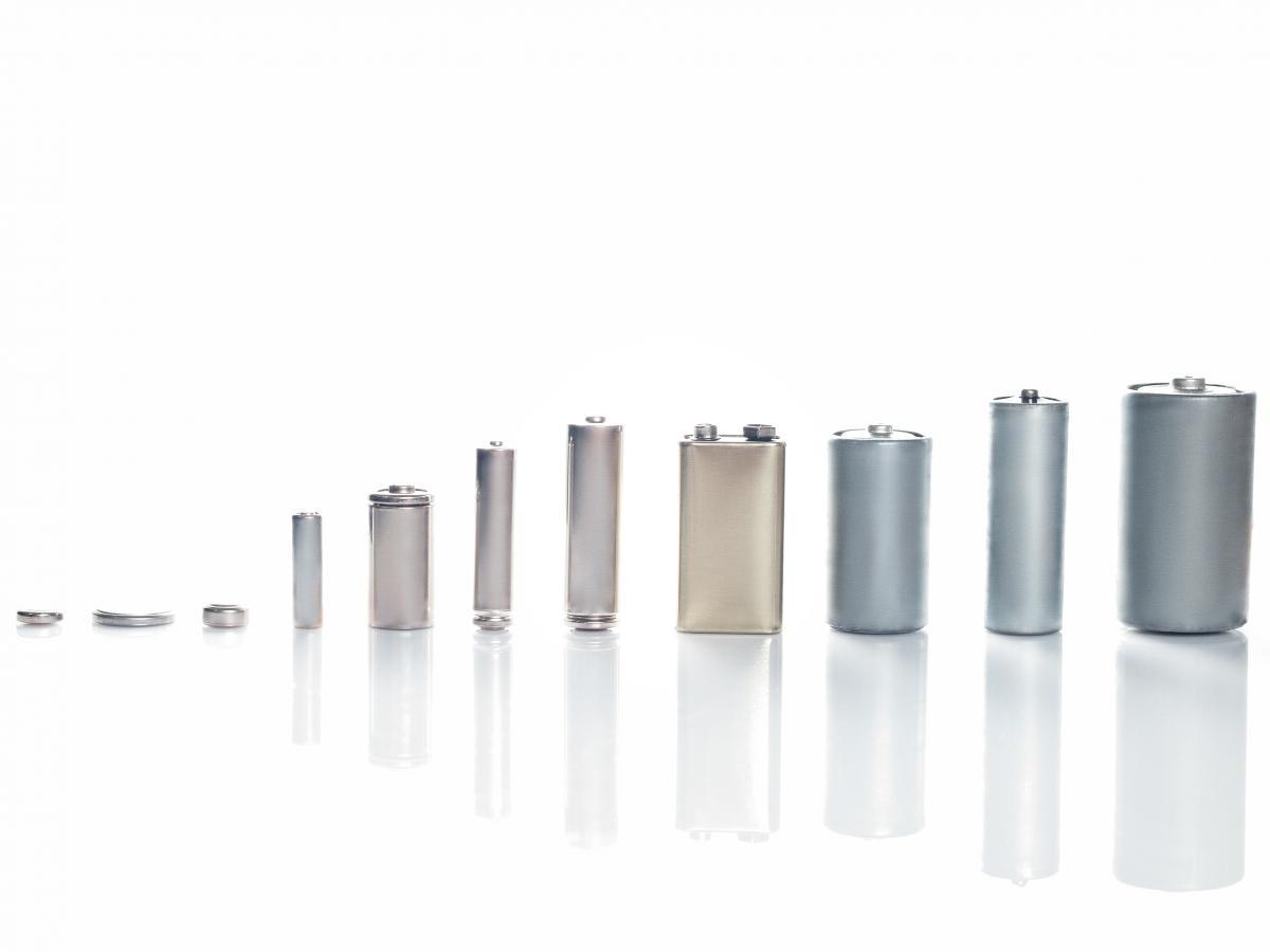 batterijen klein naar groot