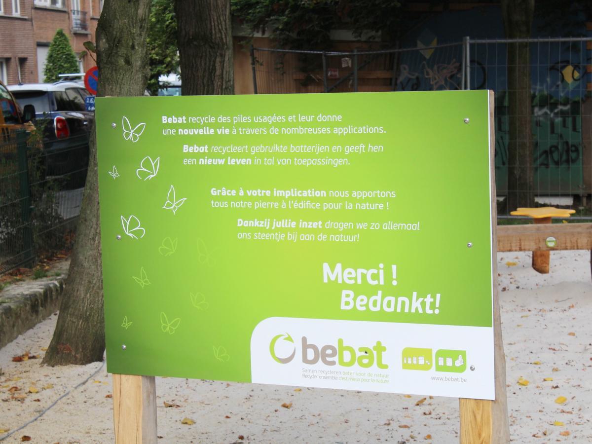 Les communes d'Olne et de Gingelom remportent une plaine de jeux écologique de Bebat