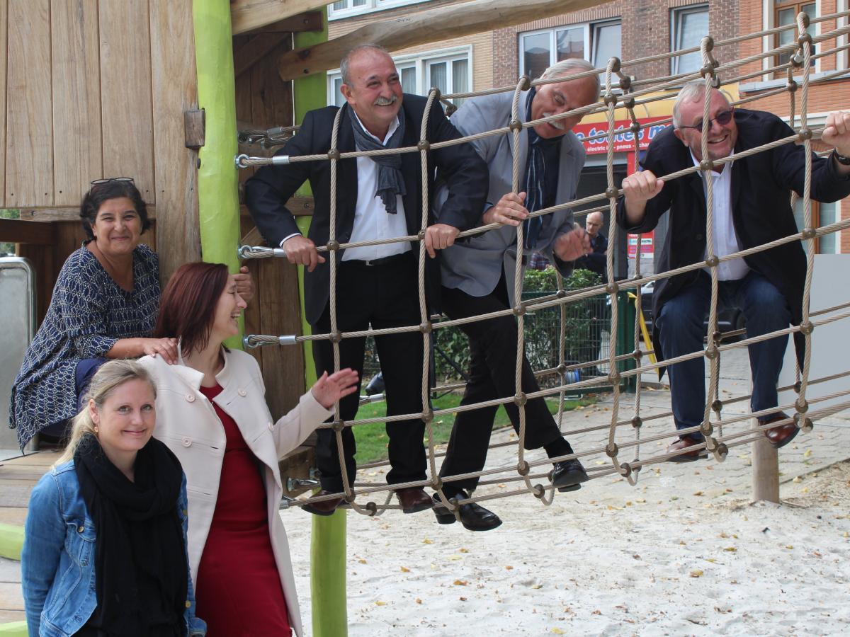 Inauguration plaine de jeux Evere