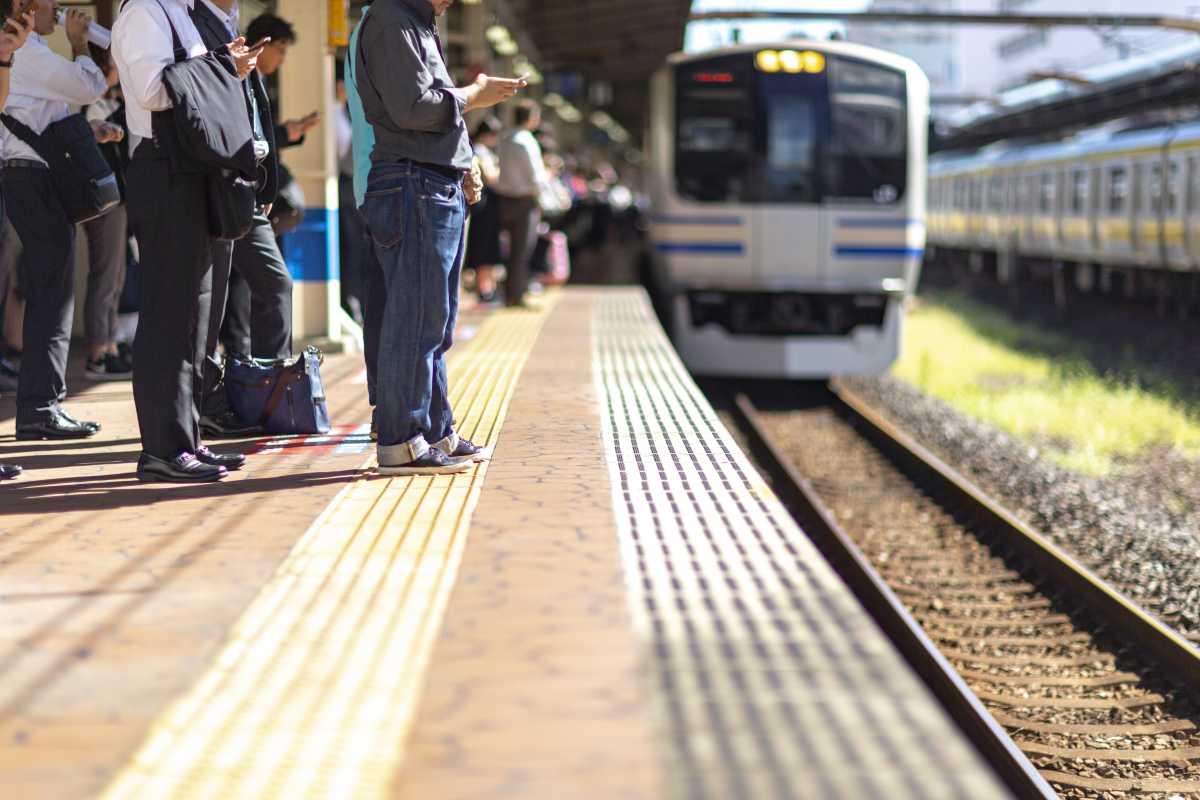 Wachten op trein